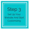 Set Up Your Website and Start Customizing