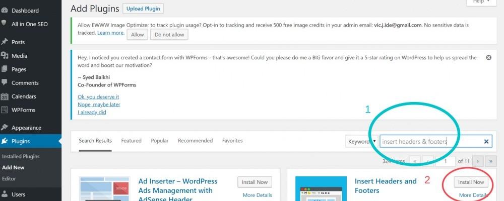 Installing a Plugin on WordPress